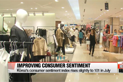 Korea's consumer sentiment improves slightly in July