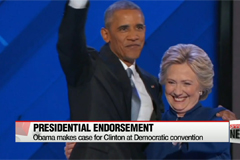 Obama makes case for Clinton at Democratic convention