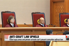 Korea's controversial anti-graft law ruled constitutional