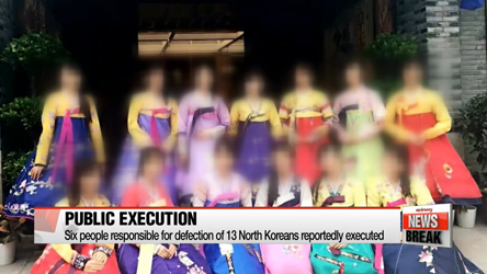 Six people responsible for defection of 13 North Koreans reportedly executed