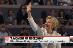 Hillary Clinton officially accepts Democratic party nomination