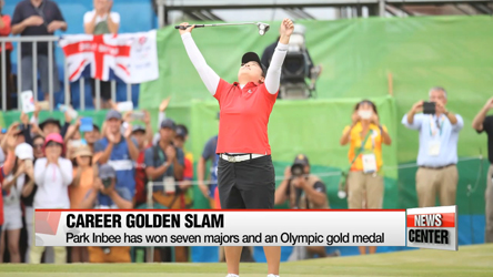 Olympic golf champion Park Inbee returns home from Rio