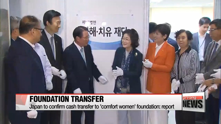 Japan to confirm cash transfer to 'comfort women' foundation: report