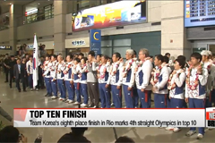 Korea's Rio 2016 delegation arrive back in Korea after top ten finish