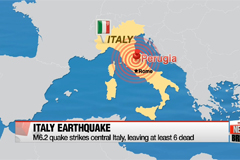 Earthquake strikes central Italy, leaving at least 6 dead
