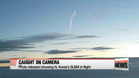 Photo released showing N. Korea's SLBM in flight