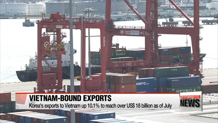 Korea's exports to Vietnam rise amid overall slump in outbound shipments