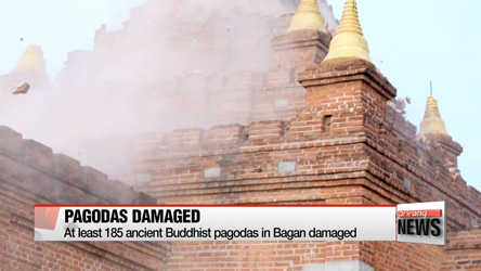 Myanmar quake damages 185 ancient Buddhist pagodas in Bagan