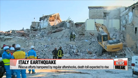Rescue efforts in Italy hampered by regular aftershocks