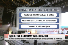 President Park says Korea's innovation centers must lead creative economy