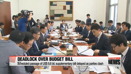 Passage of US$9.8 bil. supplementary bill delayed as parties clash over items