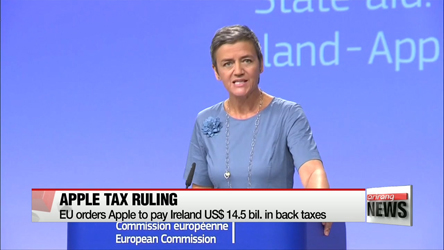 EU orders Apple to pay Ireland US $14.5 bil. in back taxes
