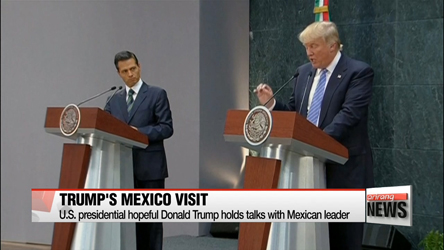 U.S. presidential hopeful Donald Trump holds talks with Mexican leader