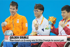 Jo Gi-seung records Korea's first ever double-gold in swimming