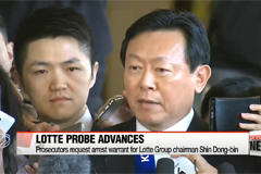 Prosecutors request arrest warrant for Lotte Group chairman Shin Dong-bin