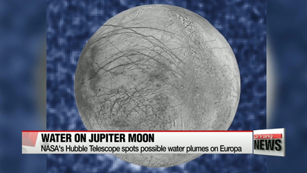 NASA's Hubble Telescope spots possible water plumes on Europa