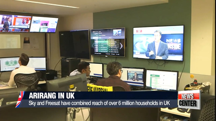 Arirang begins broadcasting on UK satellite