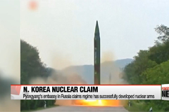 N. Korean embassy in Russia claims regime's successful nuclear development