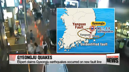 Expert claims Gyeongju earthquakes occurred on new fault line
