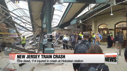 One dead, 114 injured in crash at New Jersey train station