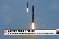 N. Korea launched another mid-range missile Thursday but failed