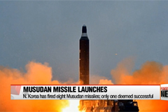 N. Korea fires another missile in five days, ends in failure