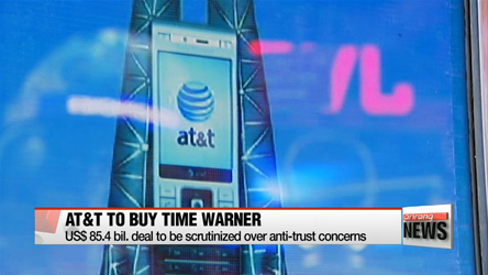 AT&T to buy Time Warner for US$ 85.4 bil.