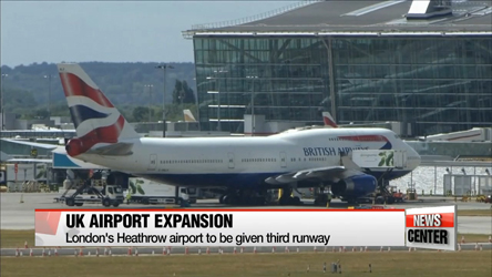 UK Government approves airport expansion