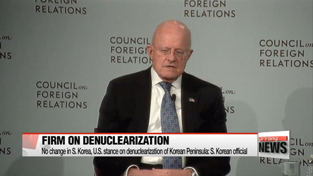 S. Korea and U.S. dismiss U.S. intelligence chief's stance on N. Korea nuclear issue