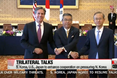 S. Korea, U.S., Japan agree to increase cooperation on pressuring N. Korea