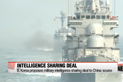 S. Korea proposes military intelligence sharing deal to China: source