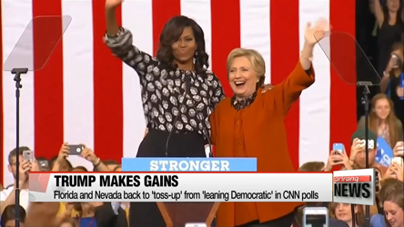 U.S. election 2016: Michelle Obama offers support to Clinton in North Carolina