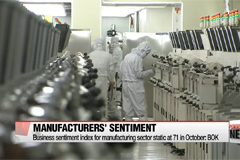 Korea's manufacturing sentiment remains low in October