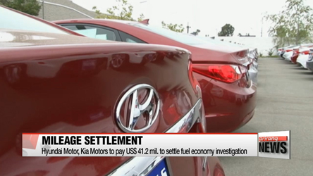 Hyundai Motor, Kia Motors to pay US $41.2 mil. to settle fuel economy investigation