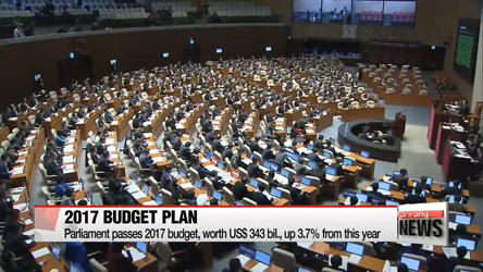 Parliament passes 2017 budget, worth US$343 bil., up 3.7% from this year