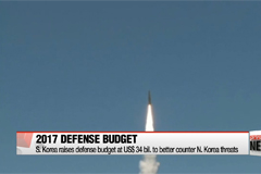 S. Korea raises 2017 defense budget to US$34 bil.