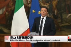 Italian PM Matteo Renzi resigns after losing national referendum; world stocks swirl over uncertainties