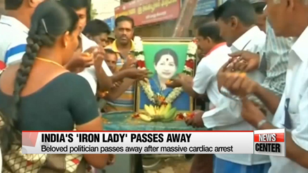 Thousands mourn death of Indian politician known as 'iron lady'