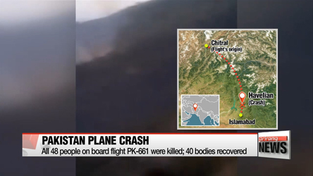No survivors in Pakistan plane crash; 40 bodies recovered