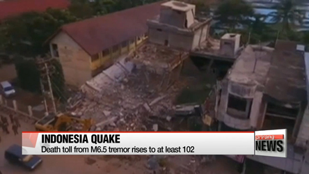 Indonesia quake death toll rises to 102, cities ruined