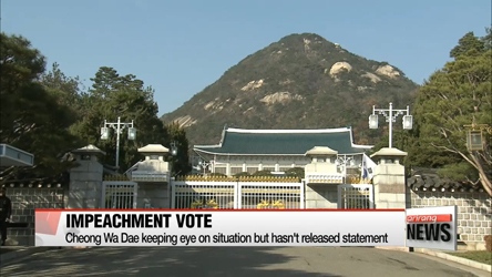 Top office keeps mum on impeachment vote