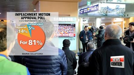 Bittersweet result: Korean public reacts to passage of impeachment motion