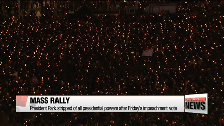 Rally goes on as scheduled as protesters demand Park's immediate resignation