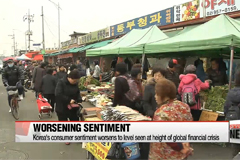 Korea's consumer sentiment worsens to level seen at height of global financial crisis