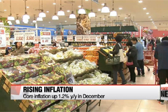 Korea's consumer price index surges 1.3% y/y in December