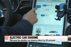 Demand for electric car sharing service rises rapidly
