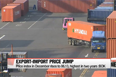 Korea's export, import prices hit two-year high
