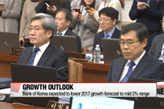Bank of Korea expected to lower 2017 growth forecast to mid 2% range