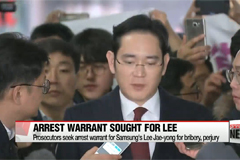 Arrest warrant issued for Samsung heir apparent Lee Jae-yong on bribery, perjury charges
