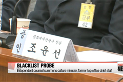 Korea's independent counsel summons culture minister, ex-presidential chief of staff